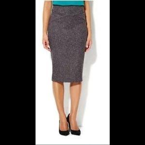 New York & Company Tweed Midi Pencil Skirt 4